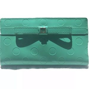 KATE SPADE Patent Leather Wallet Brightberl Green